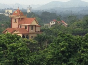 View from our hotel room in Xuan Mai