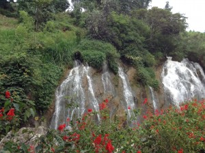 Beautiful waterfall in Sapa