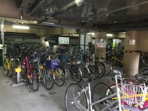 Bicycle parking garage in Tokyo