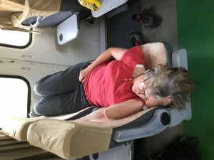 Denise catching some Zs.