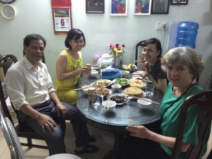 Another great meal courtesy of Thao's mom Thuy (second from left)
