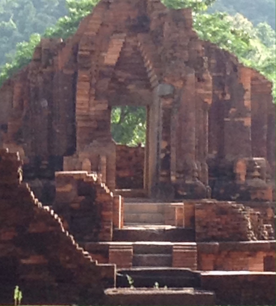 the morning light was perfect for capturing the ancient nature of the structures.