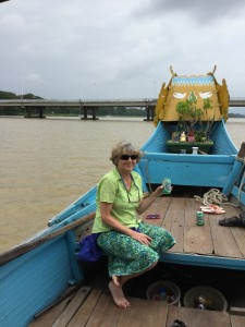 Denise on the Perfume River.
