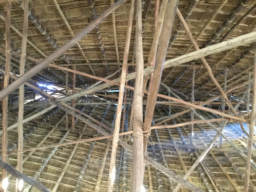 Inside archetechture of a rong house.