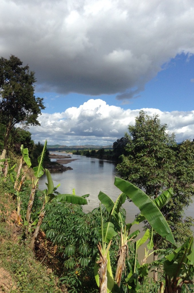 One of the rivers near the tribal villages on a tour given by our teachers.