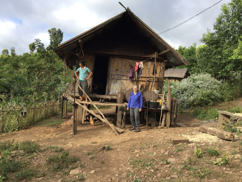 Our home with the Banah people