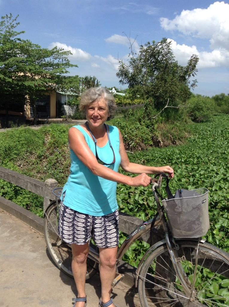 Biking through the villages.