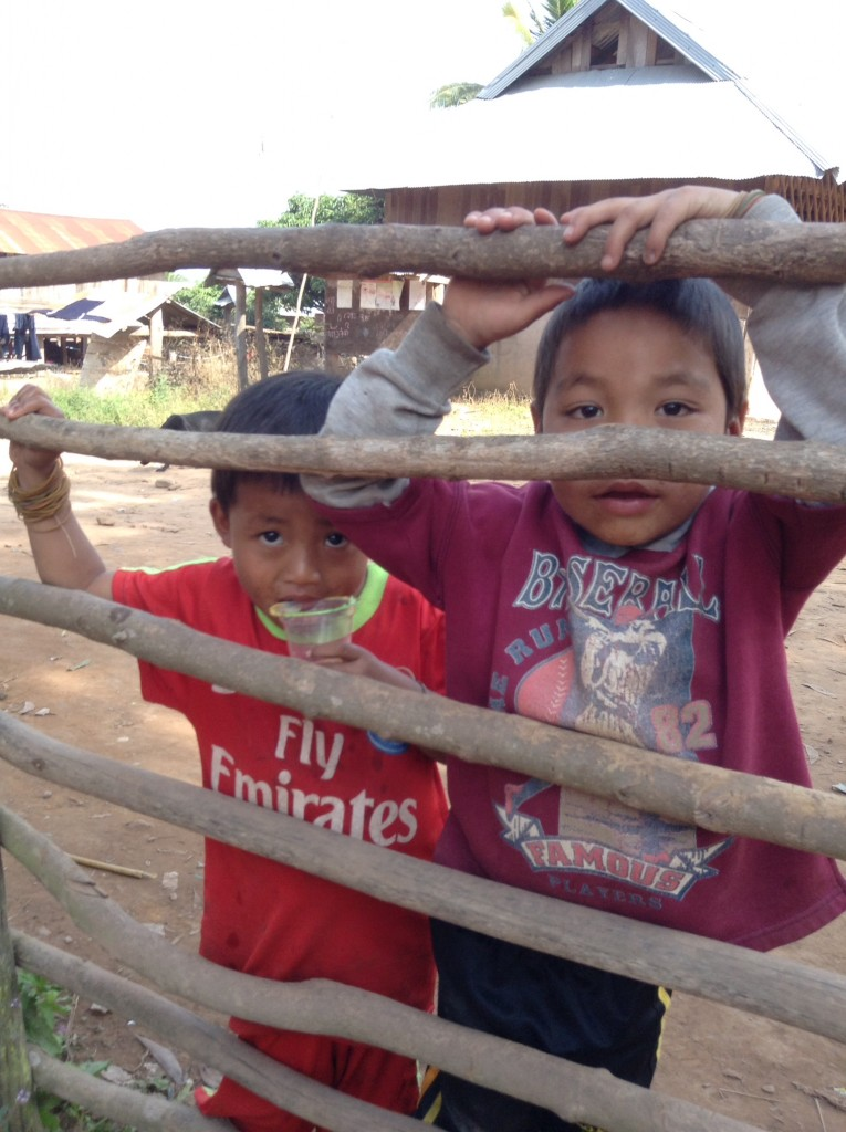 Some curious boys in the village. They ended up following us while we taught them the ABC's.