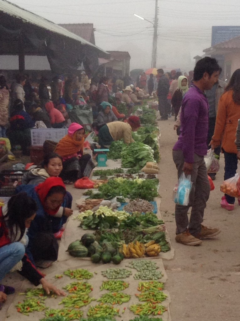 The morning market in Muang Sing. There is also a very large market behind it!