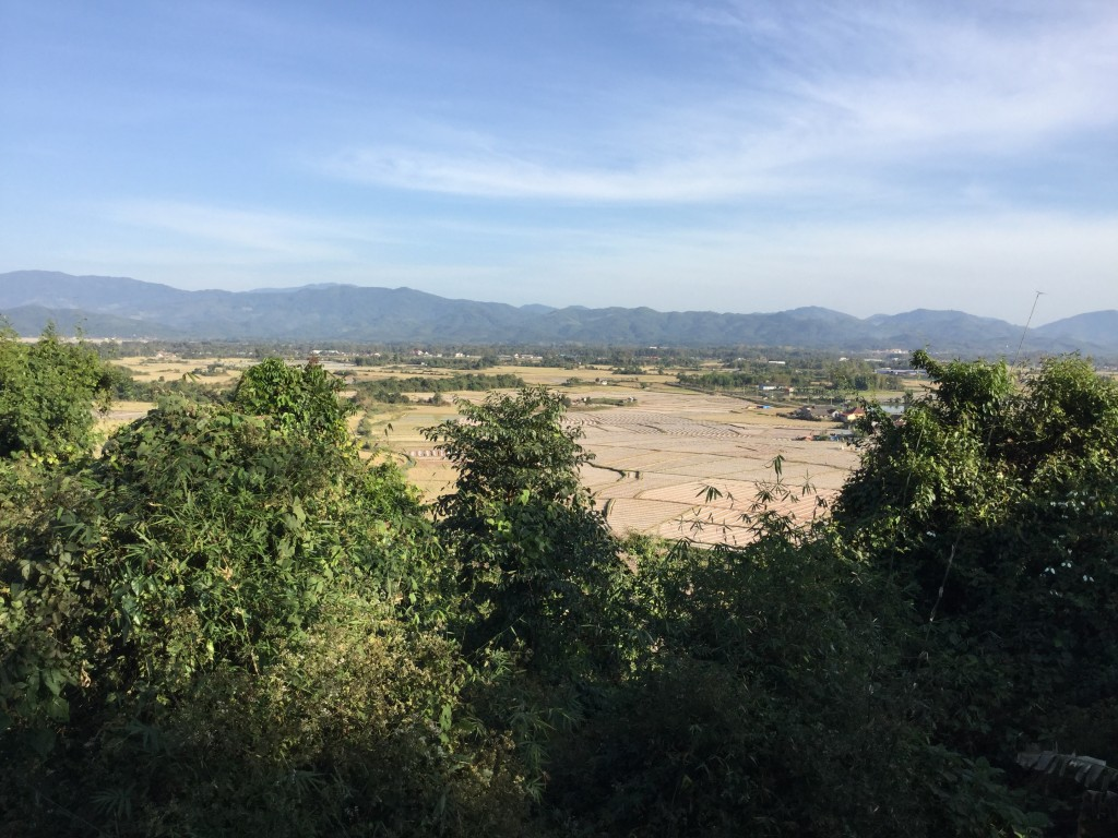 View of the area southwest of Luang Namtha from That Phum Phuk temple.