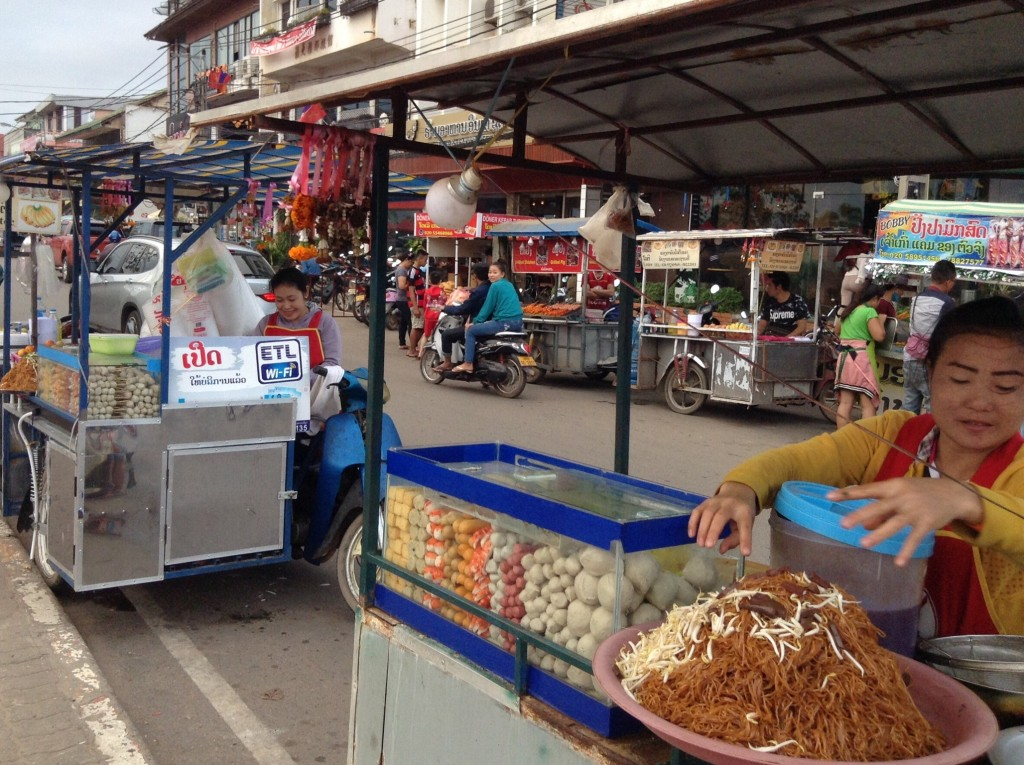 Typical street scene in Vientiane.