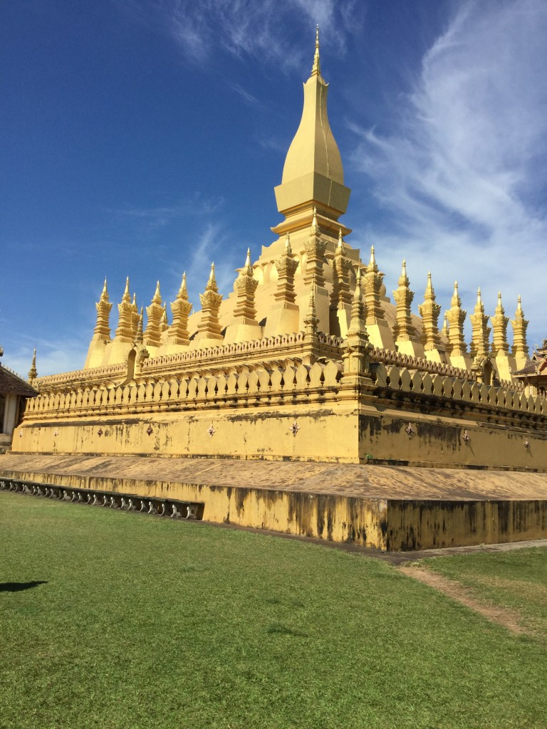 The famous symbol of Laos: Phat That Luang