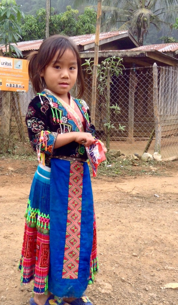 A little village girl who is so sweet!