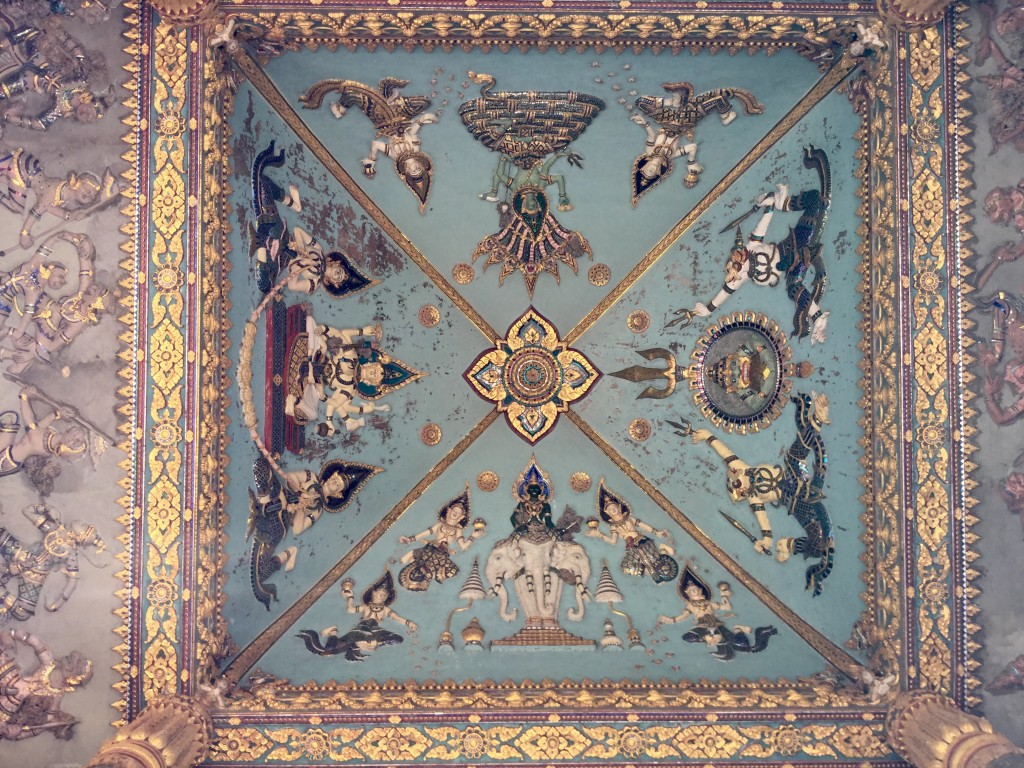 The ceiling of the Victoria monument.