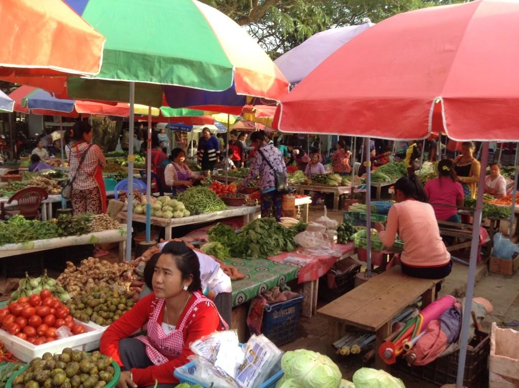 Typical market scene.
