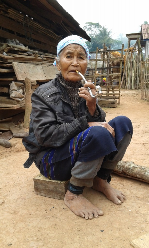 A lady we met when we first got off of the bus for our trek. All of the people we took pictures of gave us permission first.