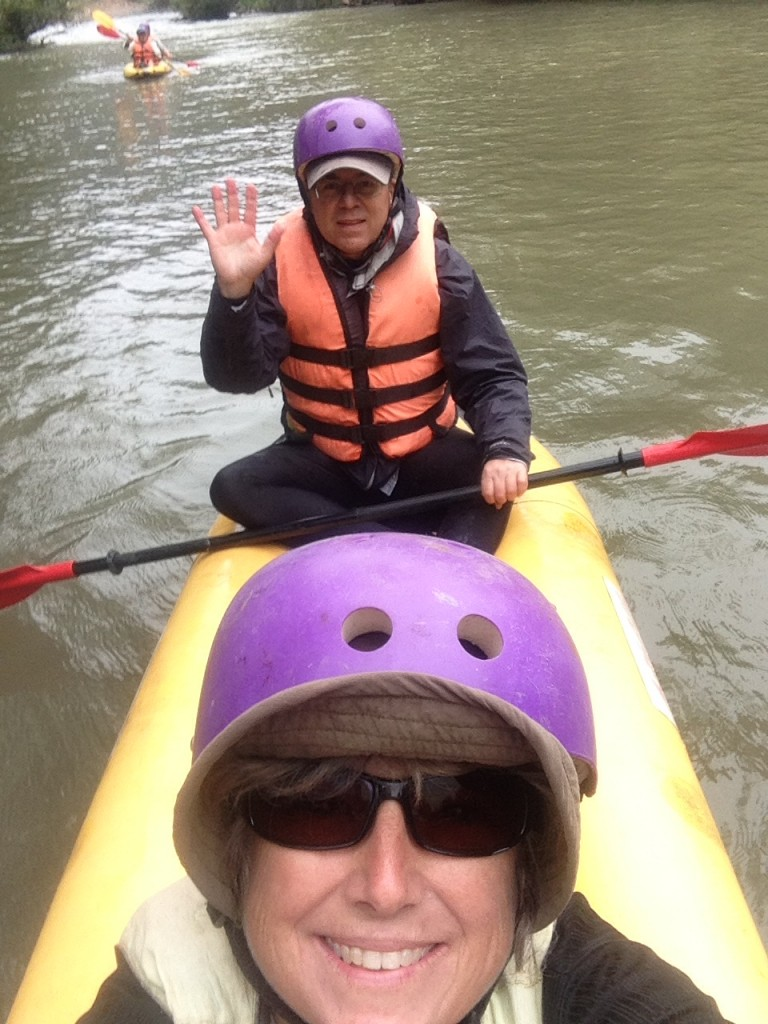 A selfie during our kayak trip!
