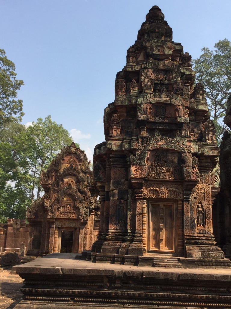 Banteay Srei temple was intricately carved