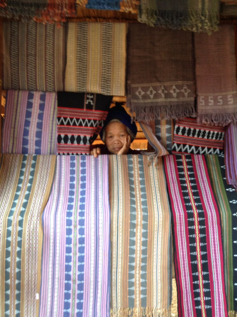 Hand weaving is a specialty of Laos culture.