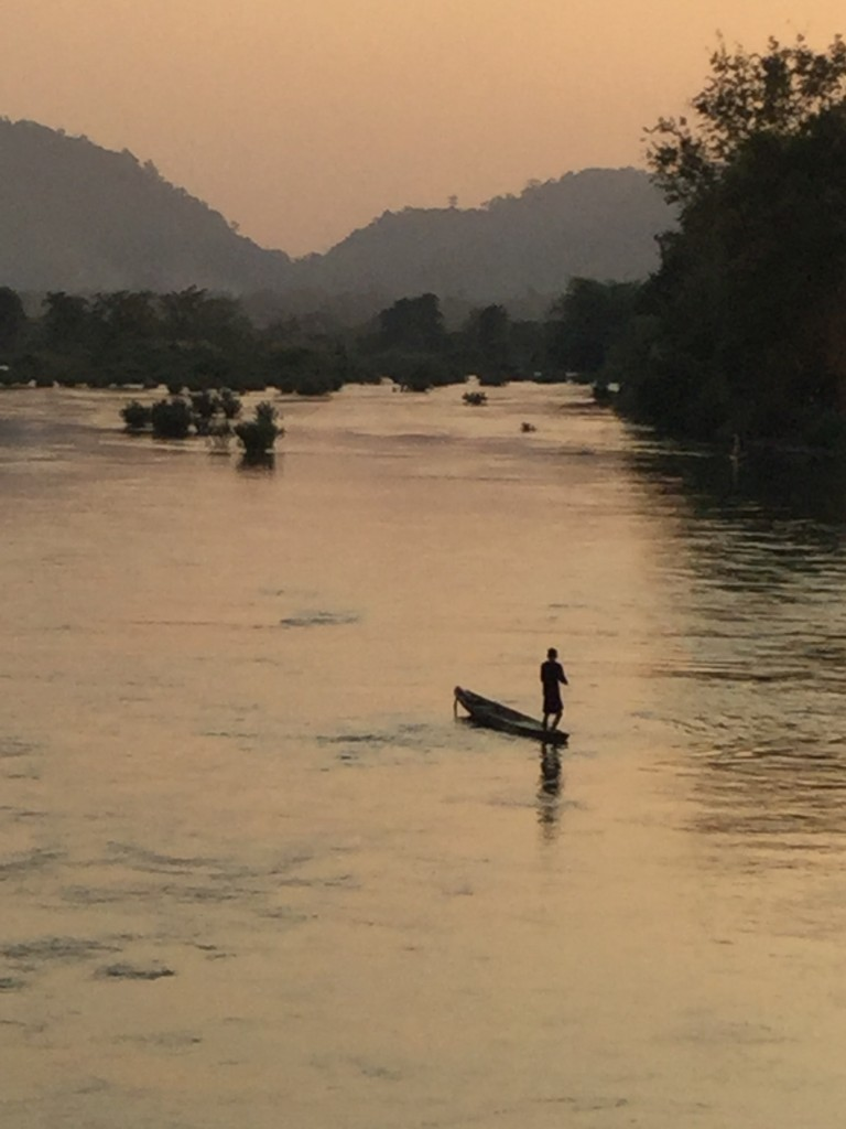 Fisherman on the Mekong.