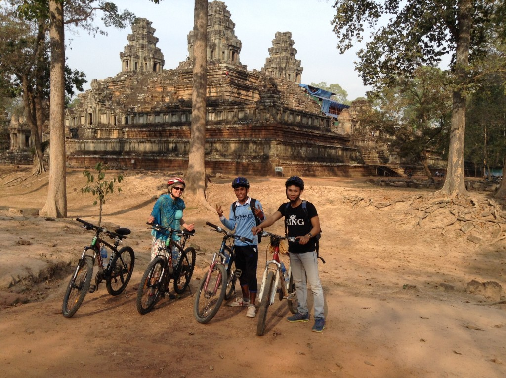 Our sweet bicycles guides that we used to see the more remote temples.