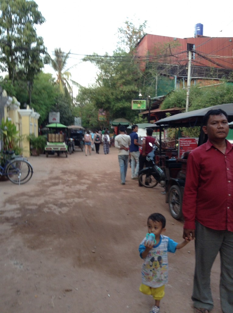 Our little side street in Siem Reap in front of Mother Home Guesthouse.