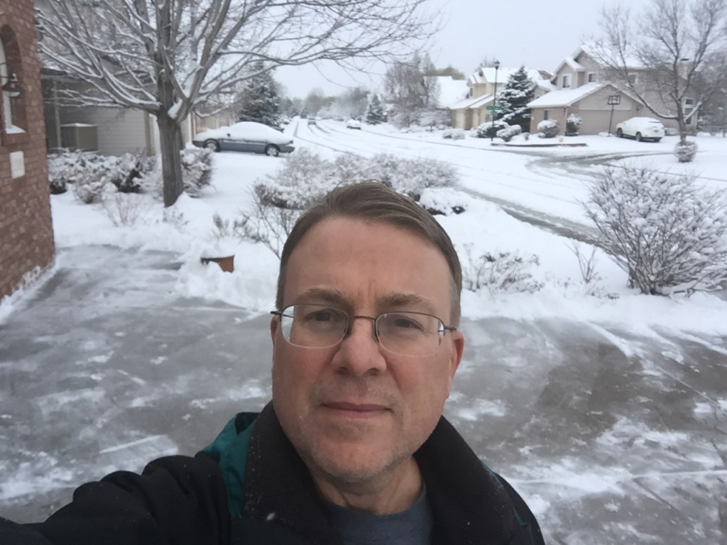 Here is Pete after shoveling the snow after the first storm. He also typically shovels some of our friends out too.